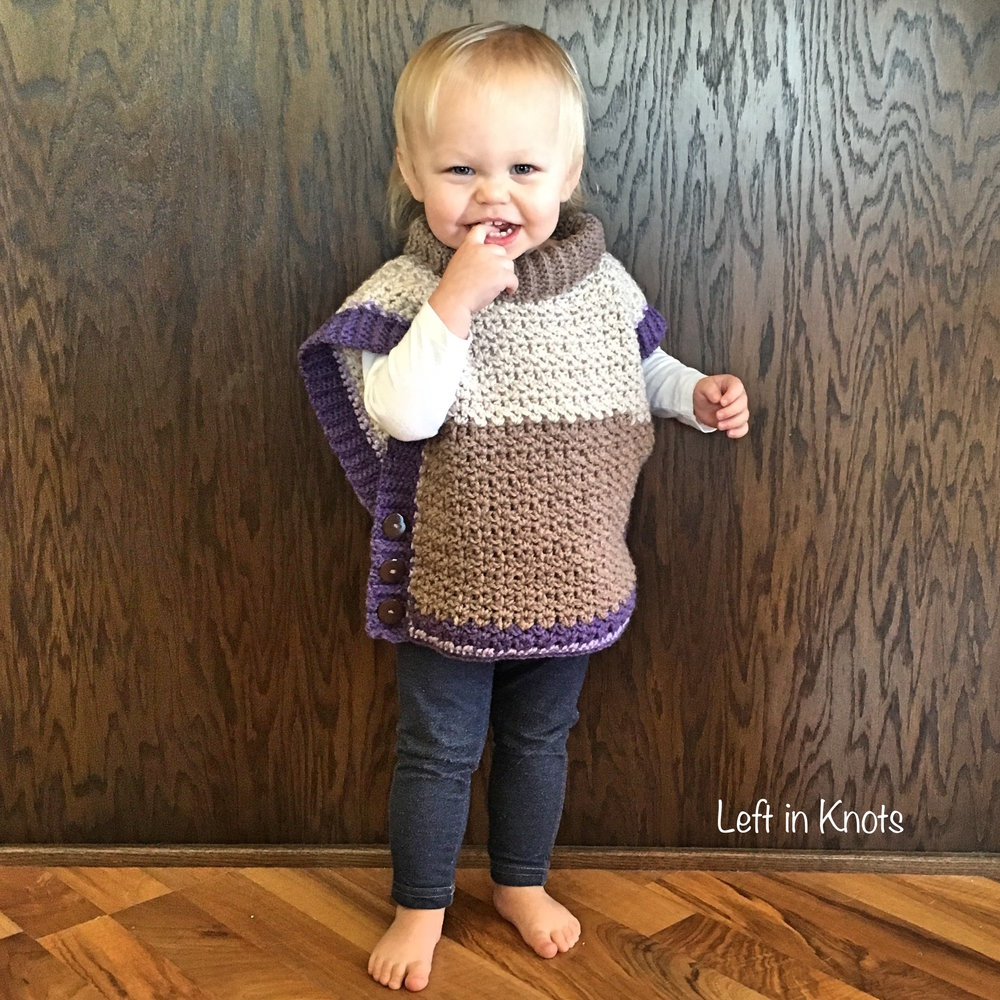 Amelia Poncho Sweater — Left in Knots