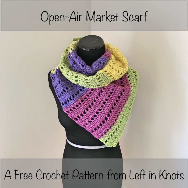 Open Air Market Scarf Left In Knots