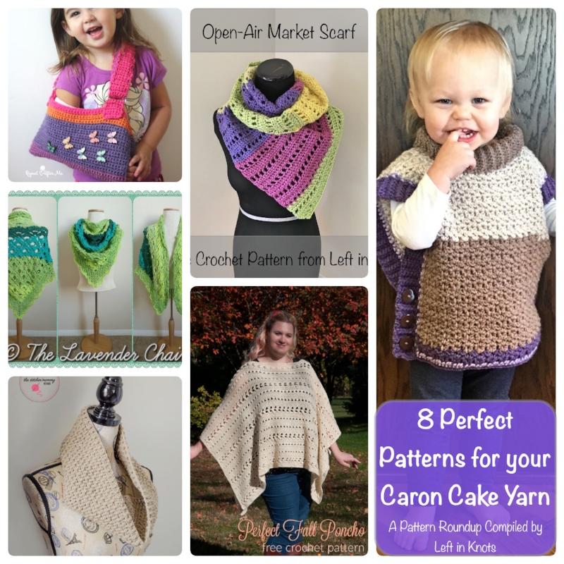 Caron Cakes Pattern Roundup — Left in Knots
