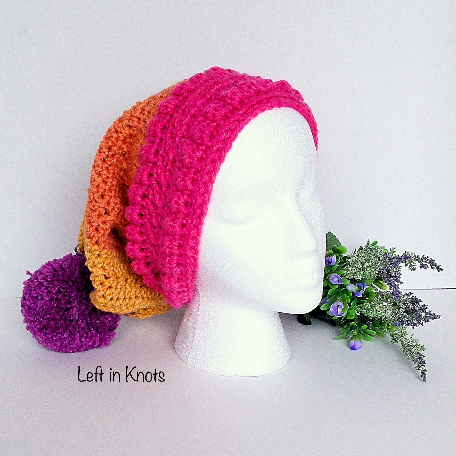 0bc17288b580b Autumn Chill Slouchy Hat - Free Crochet Pattern — Left in Knots