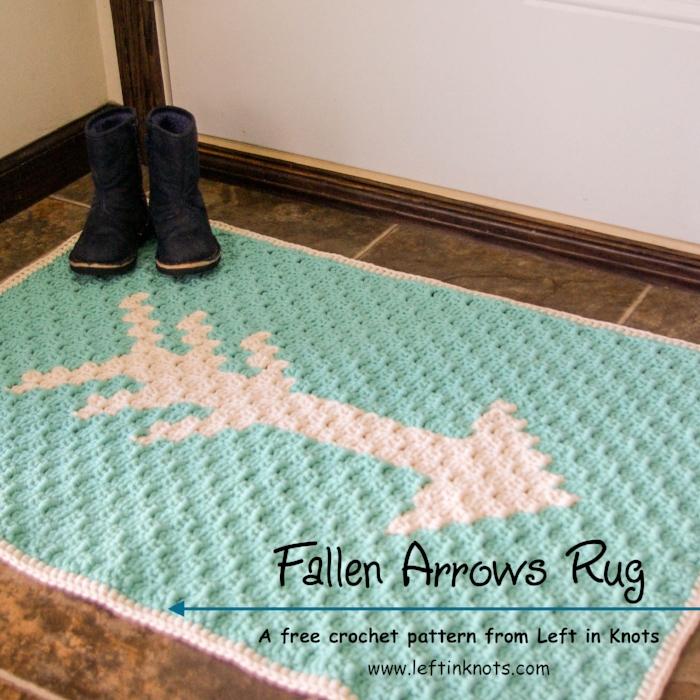 Fallen Arrows Rug Free C2c Crochet Pattern Left In Knots