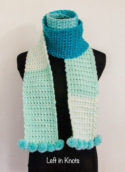 Snow Drops Skinny Scarf — Left in Knots