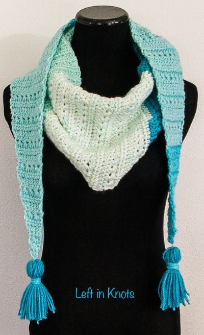 Snow Drops Mod Scarf A Free Crochet Pattern Left In Knots