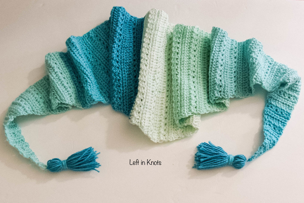 Snow Drops Slouch Hat Free Crochet Pattern — Left in Knots