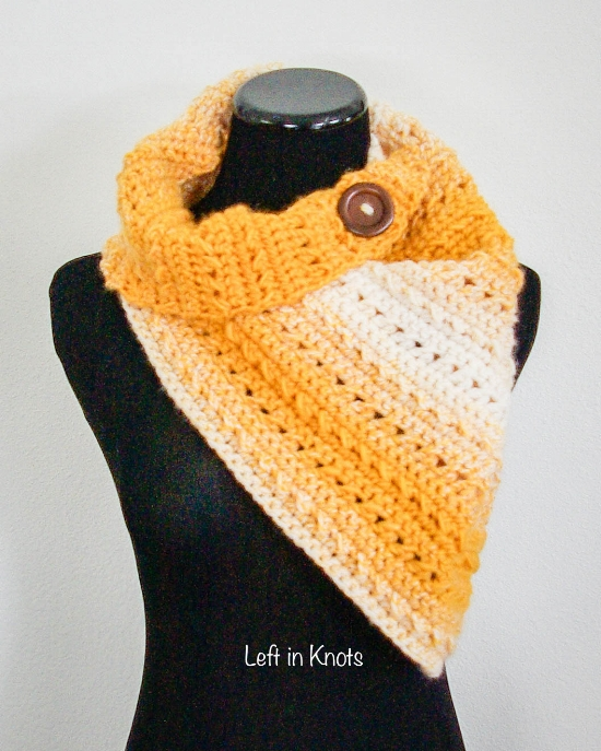 Winter Rays Scarf Left In Knots