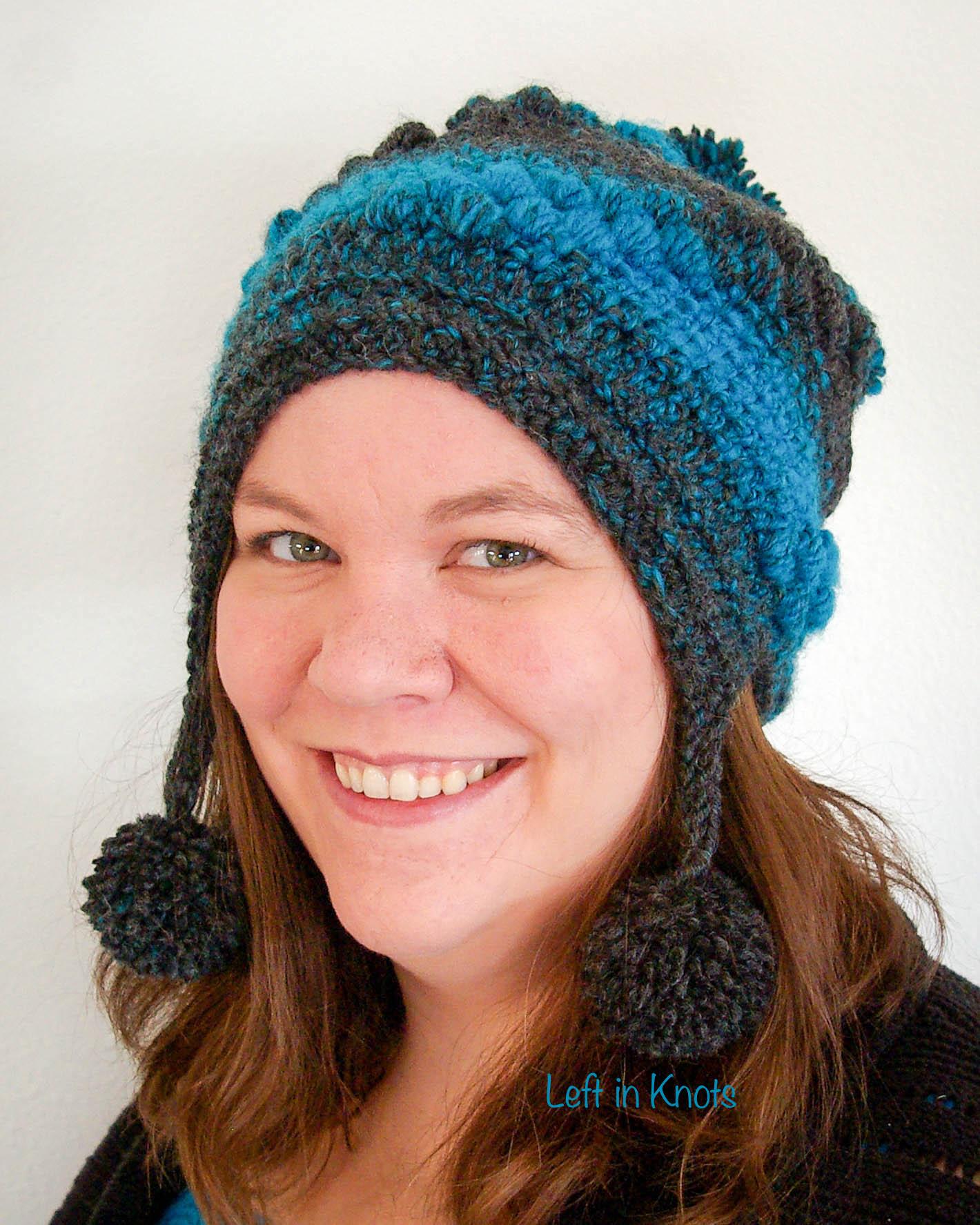 Spiral Puffs Slouchy Free Crochet Pattern Left In Knots