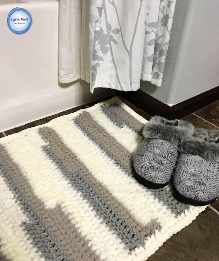 Textures Rug Free Crochet Pattern Left In Knots