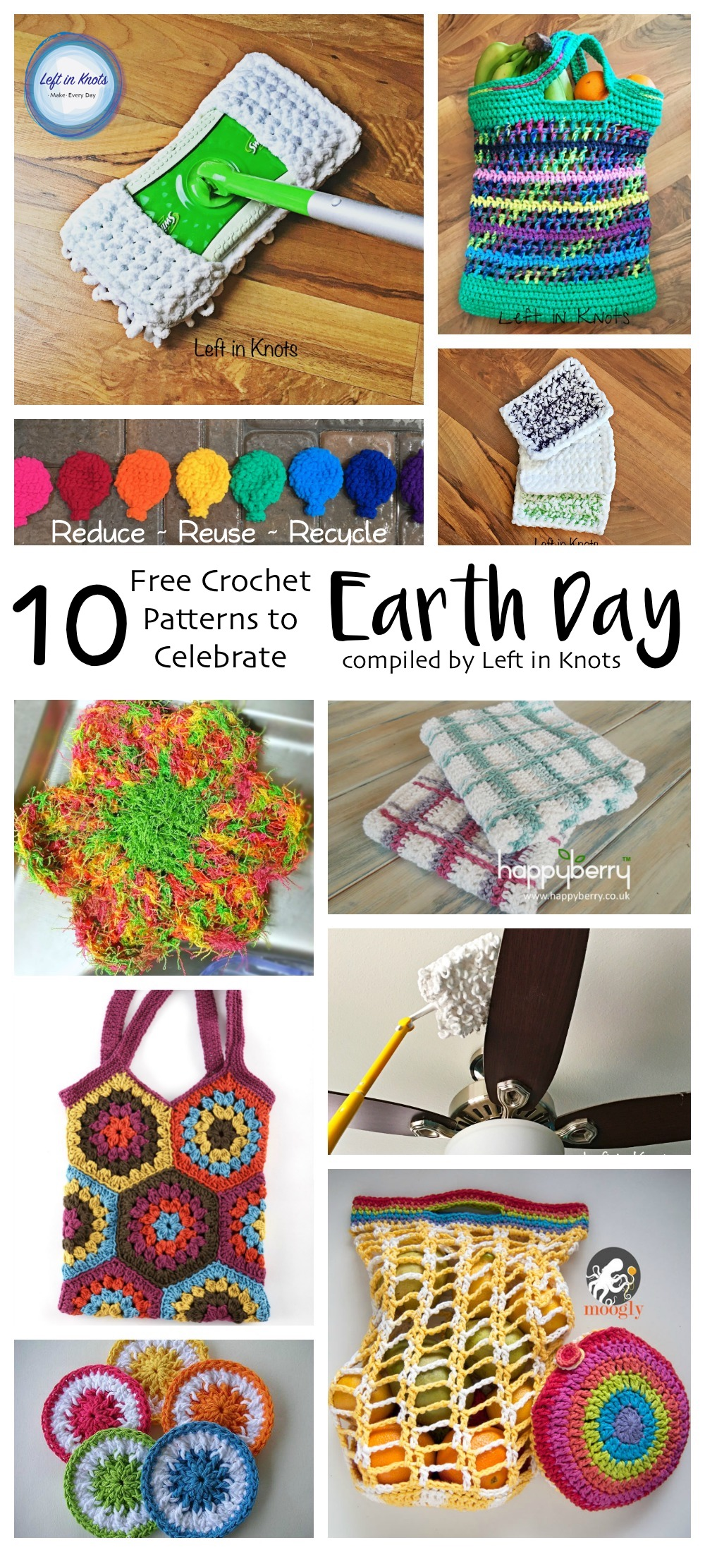 Reduce Reuse Recycle 10 Crochet Patterns To Celebrate Earth Day