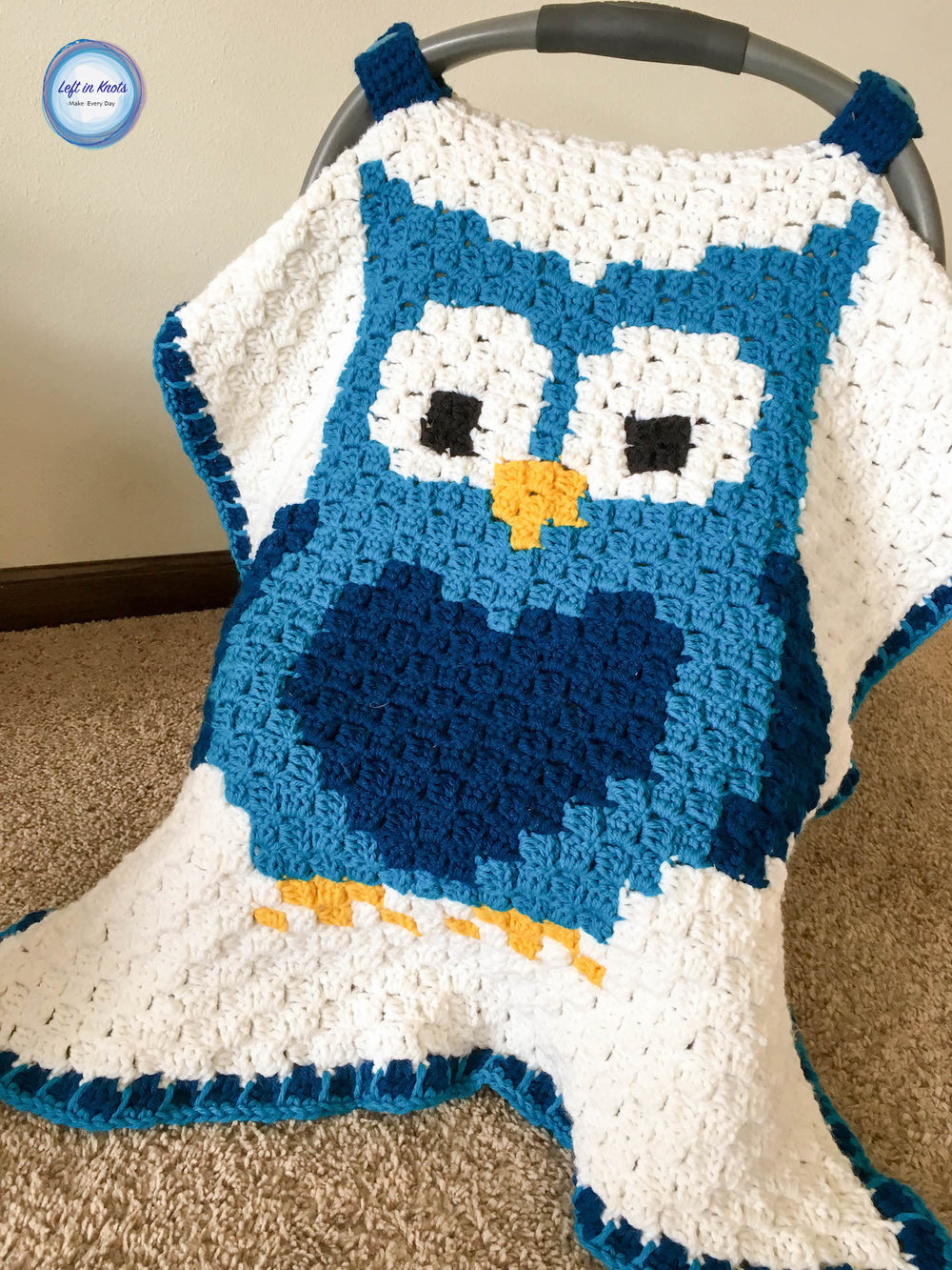 This Car Seat Canopy can be made with any of my Grids for Kids Pixel Charts but I chose to use the little owl. The assembly of this project is just like ... & Owl Car Seat Canopy u2014 Left in Knots