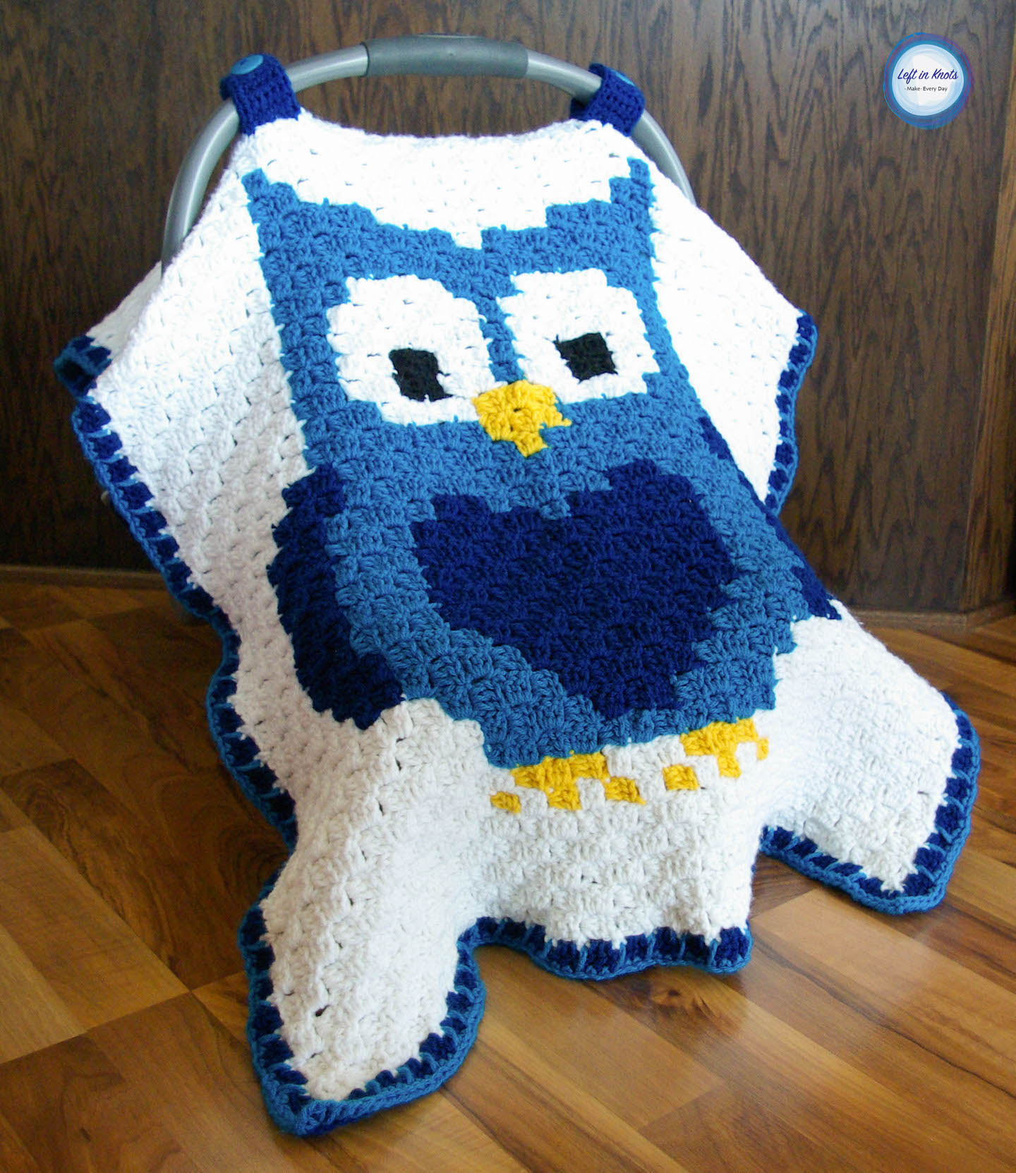 Crochet Owl Car Seat Canopy Left In Knots