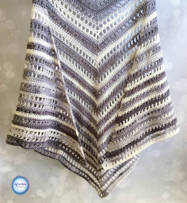 Wrap Me in Ice Cream Shawl — Left in Knots