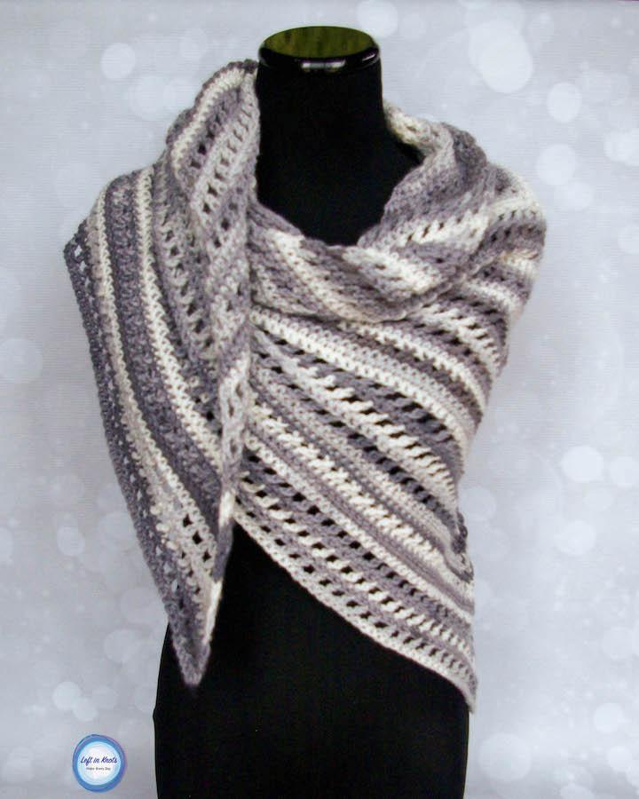 Wrap Me In Ice Cream Shawl &Mdash; Left In Knots Crochetpattern - Diy Crafts