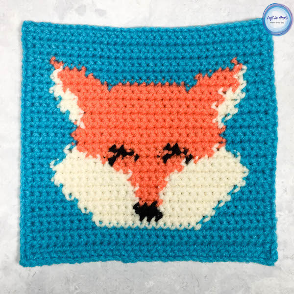 Grids For Kids Forest Friends Crochet Fox Square Left In Knots