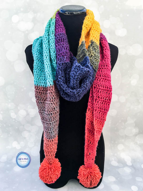 Chroma Scarf Left In Knots