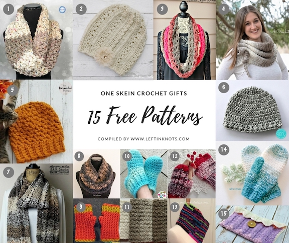 One Skein Crochet Gifts - 15 Free Patterns — Left in Knots