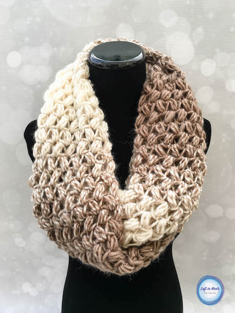 Coffee Bean Infinity Scarf Crochet Pattern Left In Knots