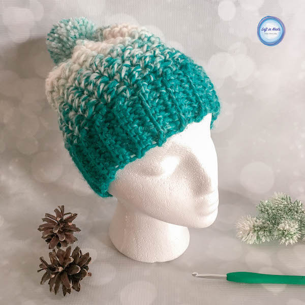 Crochet Snowball Slouch Hat Free One Skein Pattern Left In Knots