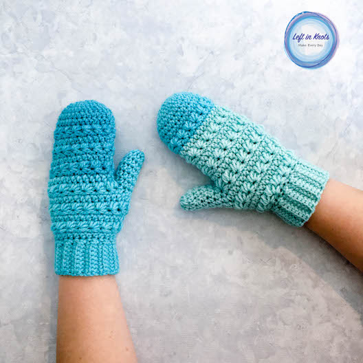 Snow Drops Mittens Free Crochet Pattern Left In Knots