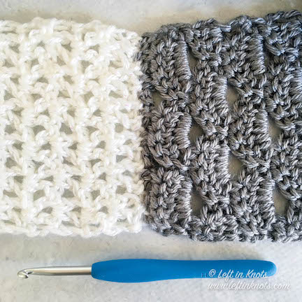 The Eternity Knot Scarf is a perfect stash buster project for any extra skeins of worsted weight yarn you have in your stash! This modern, lacy scarf is the style you will need in those first few weeks of cool spring weather. Get the free crochet pattern here!