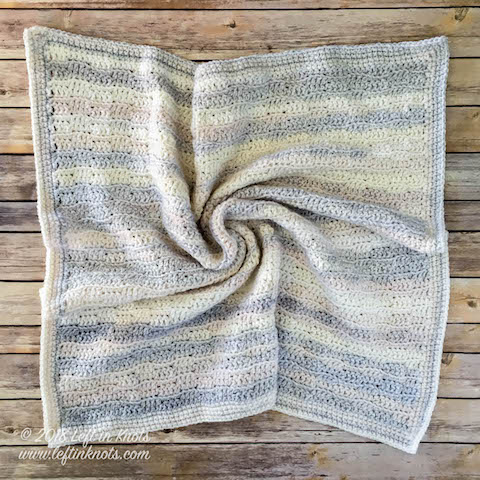 Dreamy Waves Baby Blanket Free Crochet Pattern Left In Knots