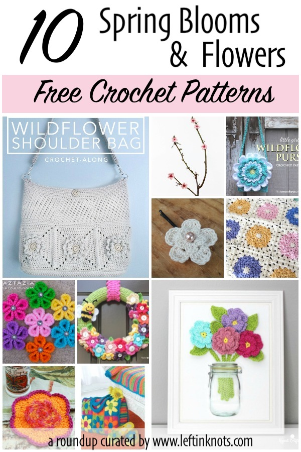 Spring blooms and flowers will be here before you know it, but if you can't wait another minute why not try getting some of these beautiful and colorful free patterns on your hook!  Today I have collected 10 free crochet patterns to bring flowers into every part of your life: decor, fashion, and function.  I hope you enjoy today's free crochet pattern roundup.