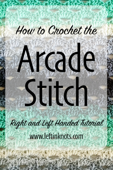 The Arcade Stitch is a relatively simple stitch that creates a beautiful, cut-out design perfect for lighter spring or summer garments. I've got a right and left handed video tutorial for you to use to learn this stitch, and then a few free crochet patterns that you can practice it with!