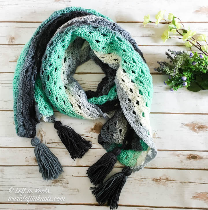 Stormy Days Wrap Free Crochet Pattern Left In Knots
