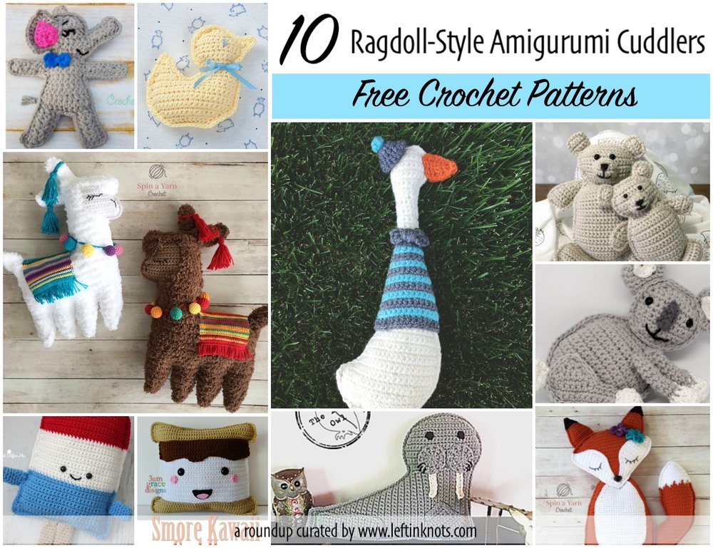 10 Free Crochet Patterns For Ragdoll Amigurumi Left In Knots