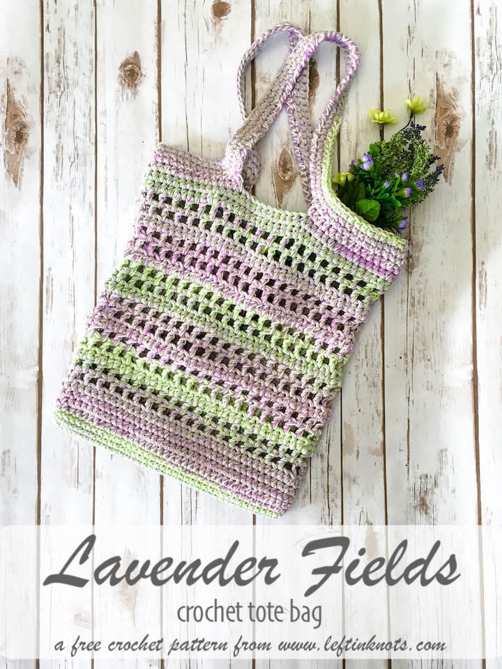 Lavender Fields Tote Bag Free Crochet Pattern Left In Knots