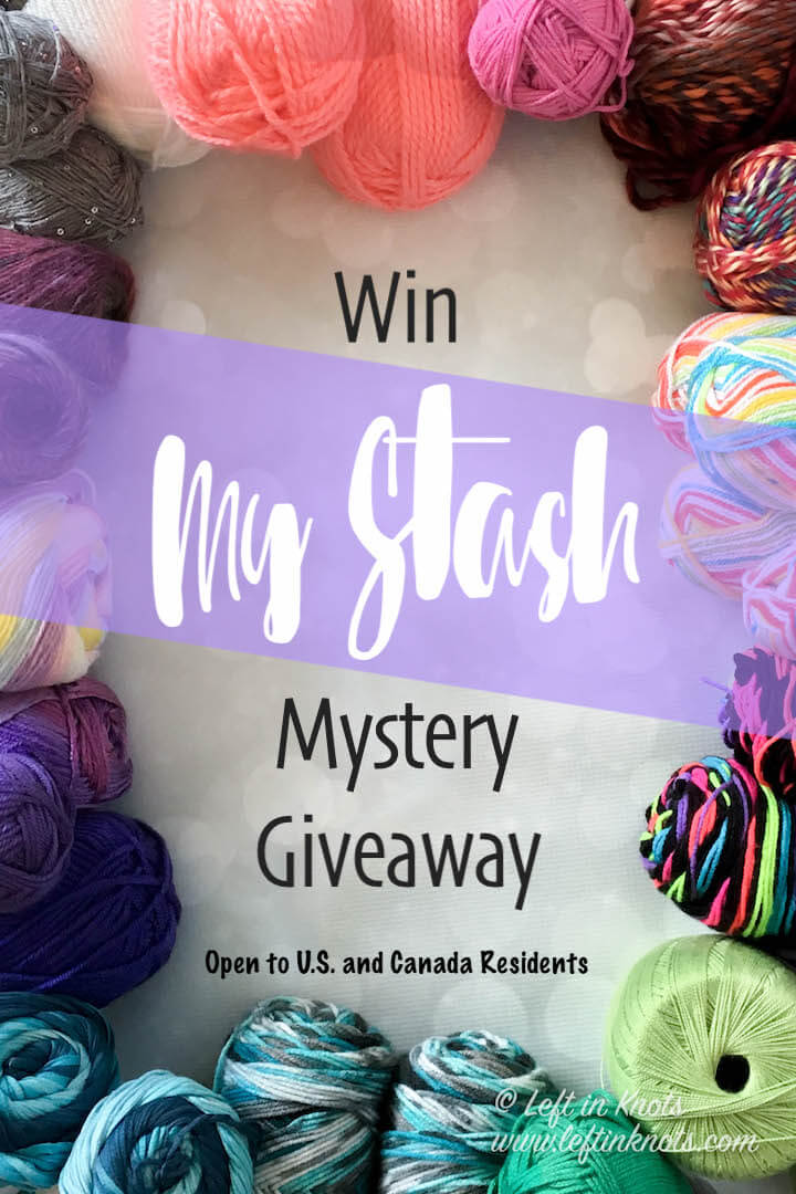 """Enter the """"Win My Stash"""" giveaway this month for your chance to win a grab bag collection of yarn from my personal yarn stash! This giveaway is open to U.S. and Canada residents from 8/3/18 to 8/10/18 at 12AM CST."""