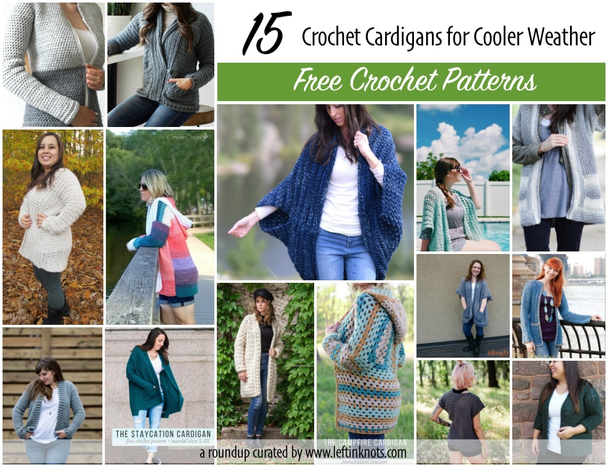 eeaef46318b15 15 Free Crochet Cardigan Patterns for Cooler Weather — Left in Knots