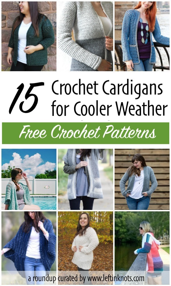 1f6926e57 15 Free Crochet Cardigan Patterns for Cooler Weather — Left in Knots