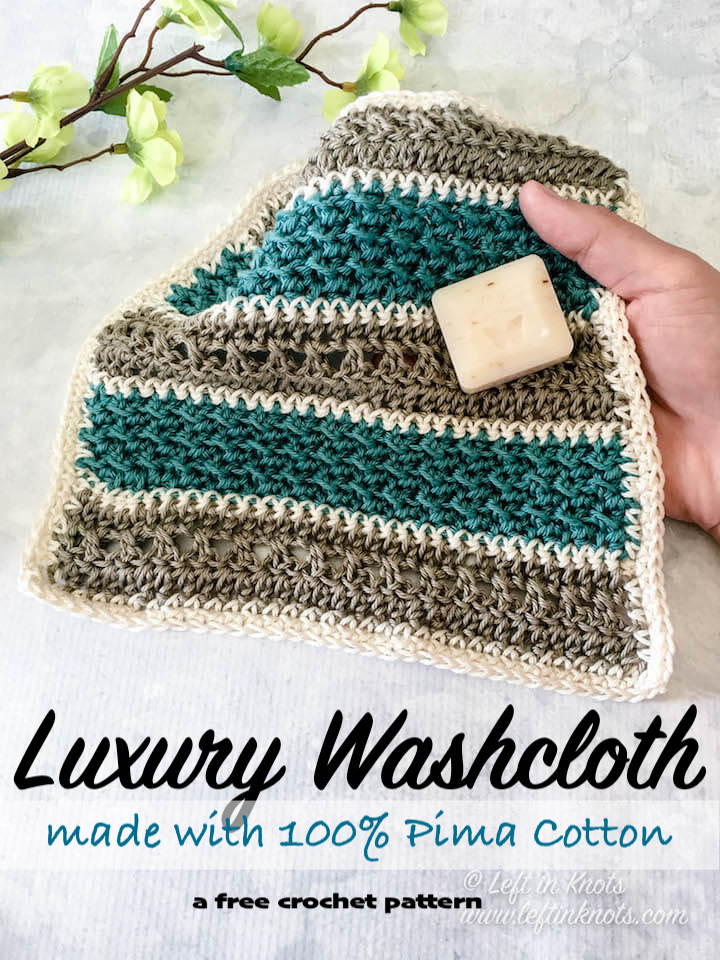 Beach House Washcloth Free Crochet Pattern Left In Knots