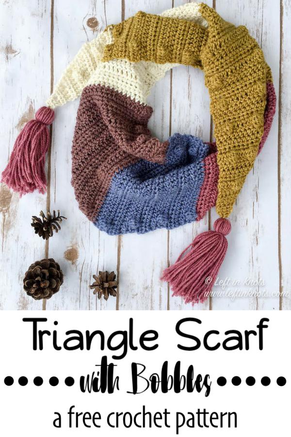 Silhouette Mod Scarf Free Crochet Pattern Left In Knots