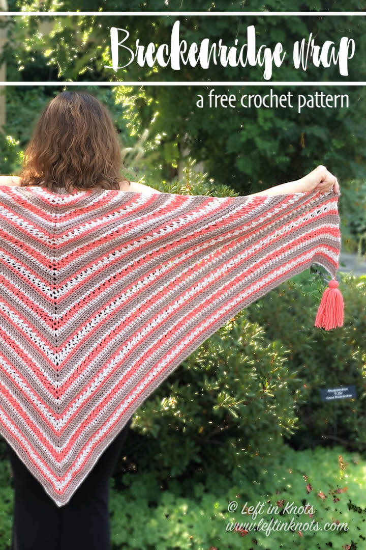 Breckenridge Wrap Free Triangle Shawl Crochet Pattern Left In Knots