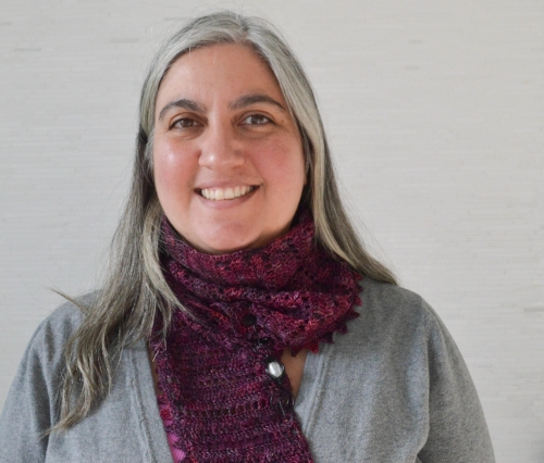 """Marie Segares, Author of """"Design It, Promote It, Sell It: Online Marketing for Your Crochet and Knit Patterns"""". Marie is also the designer/blogger at  Underground Crafter"""