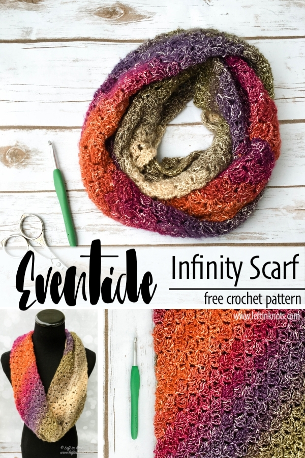 Crochet Eventide Infinity Scarf A Free One Skein Pattern Left In