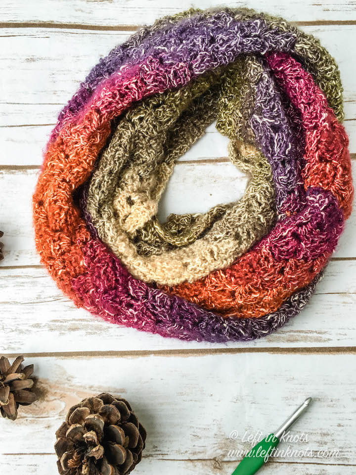 Crochet Eventide Infinity Scarf A Free Pattern Left In Knots