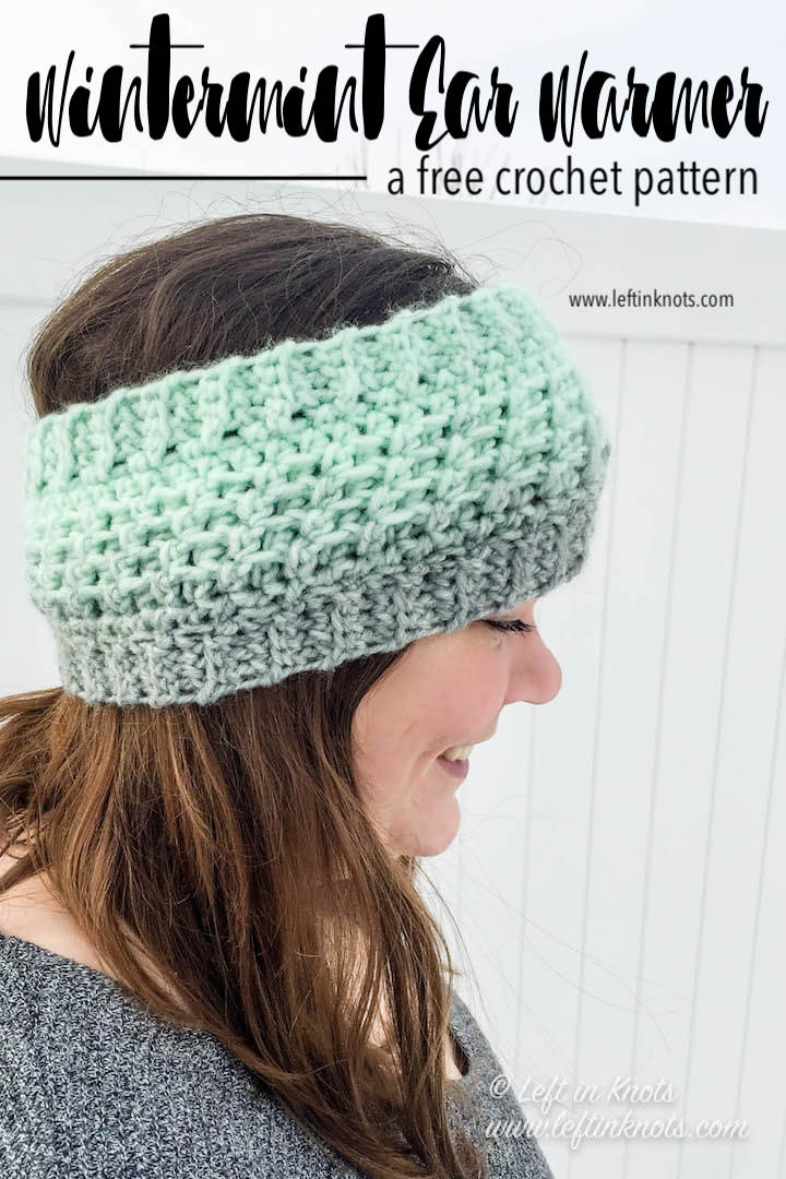 Day four of the Seven Days of Scarfie is for the adults and the kids on your list! The Wintermint Ear Warmer is available in two sizes and is a GREAT scrap project. The adult size uses less than half of a skein of Lion Brand Scarfie yarn. I hope you enjoy today's free crochet pattern!