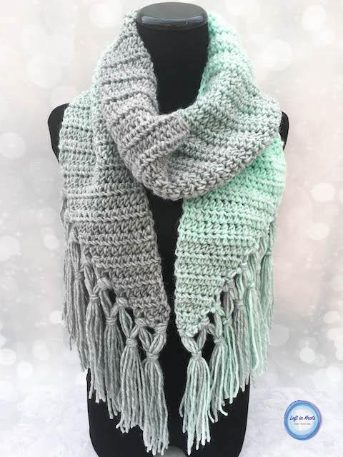 Mintcicle Scarf Crochet Pattern