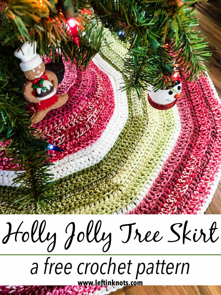 Crochet Holly Jolly Christmas Tree Skirt A Free Pattern Left In