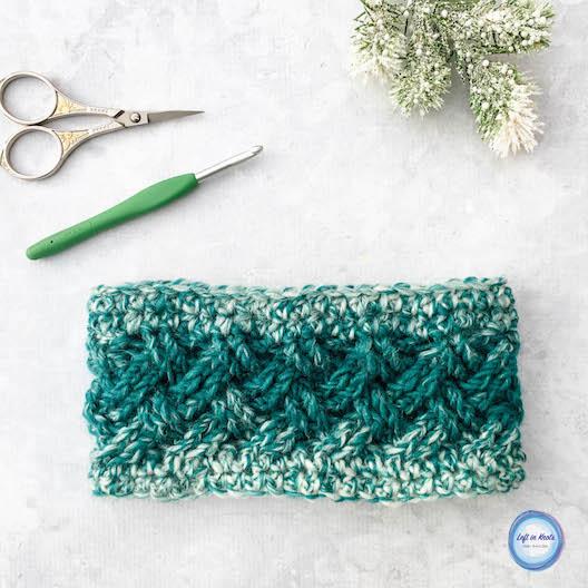 Celtic Winters Ear Warmer Crochet Pattern