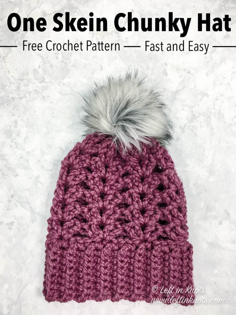 93e8bb83a47 Crochet Frosted Berry Chunky Hat - Free Pattern — Left in Knots