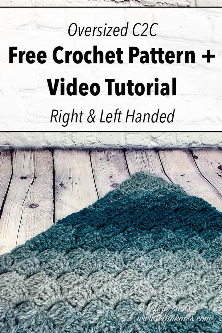 CROCHET LEFT HANDED: Corner to corner blanket tutorial | Bella ... | 1080x720
