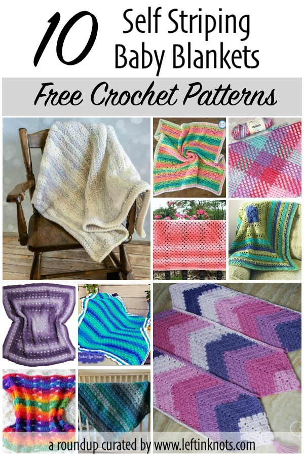 It's always baby season in the crochet world! And who doesn't love a good, free baby blanket pattern? Today I've got a collection of easy striped baby blankets that I think you will love. If you need some baby blanket inspiration for your next project, start here!