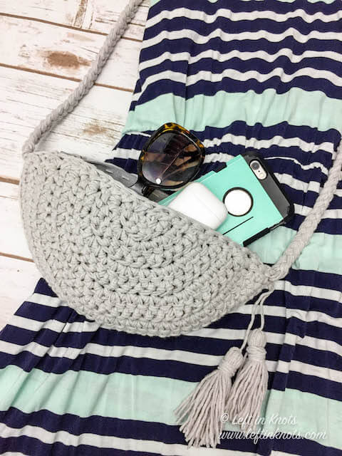 Crochet A Convertible Belt Bagcrossbody Bag Free Pattern Left