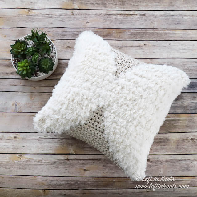 Crochet Phases Throw Pillow - Free Pattern — Left in Knots