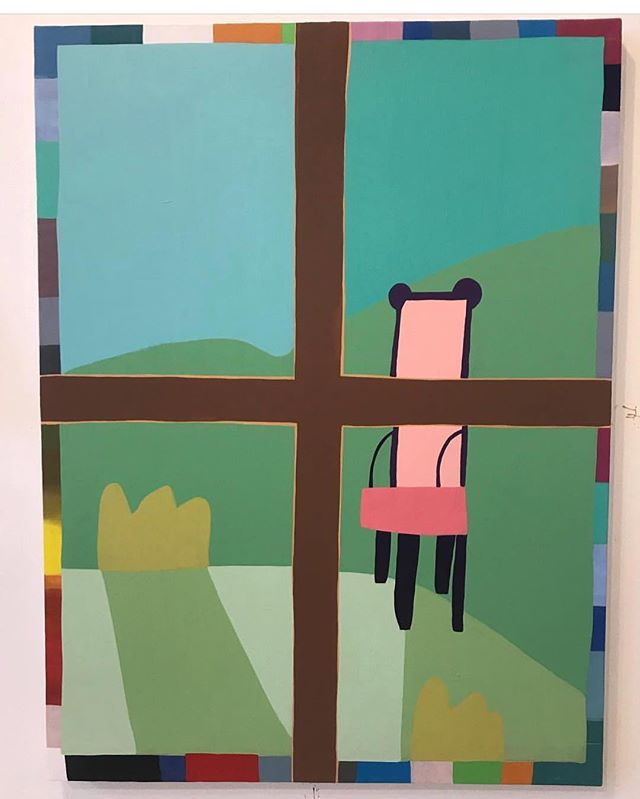 Come in this week Wednesday through Saturday 2-6pm to view @lukebforsyth solo show 'Tables and Chairs'!
