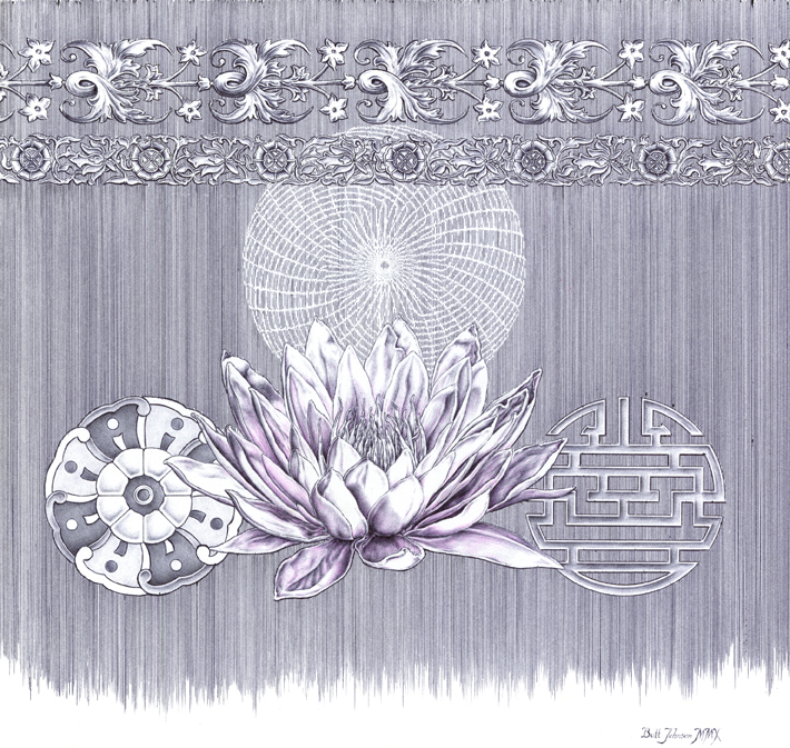 Untitled Floral Pastiche III (Water Lily)