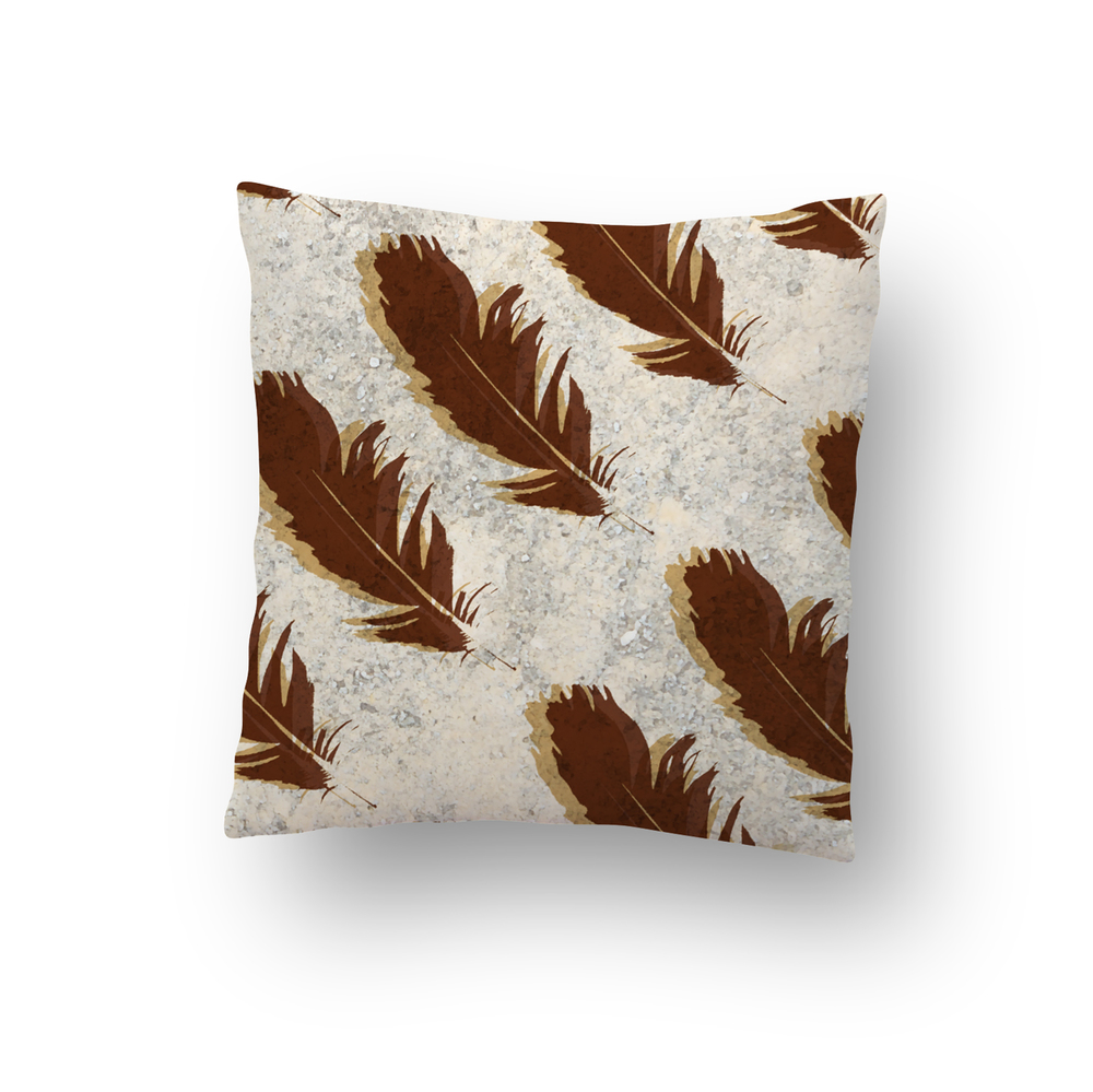 Feather Stone Pillow